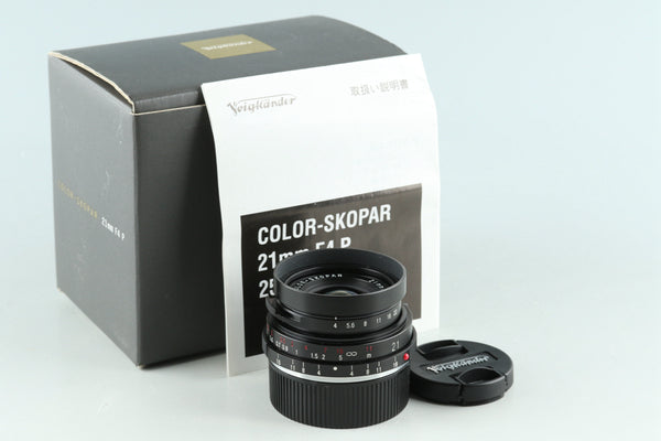 Voigtlander Color Skopar 21mm F/4 Lens for Leica M With Box #30777L7