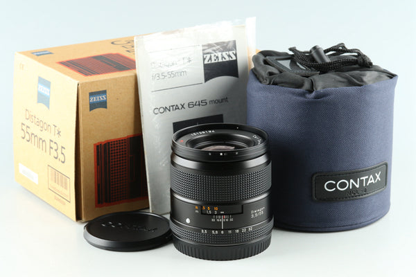 Contax Carl Zeiss Distagon T* 55mm F/3.5 Lens for Contax 645 With Box #30860L8