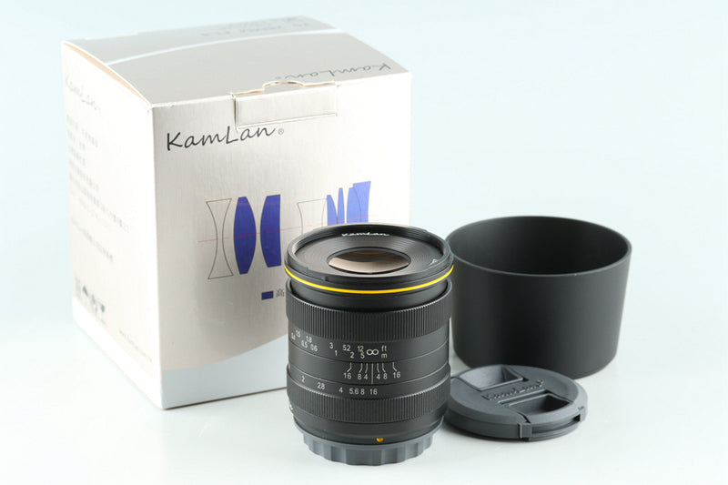 Kamlan 28mm F/1.4 Lens With Box for X Mount #31176L10