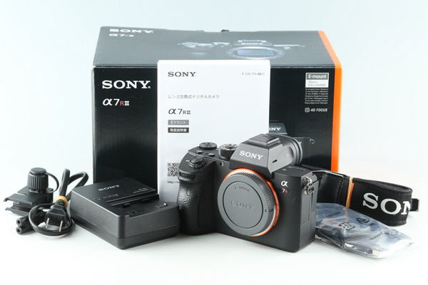 Sony α7R III / a7R III Digital Camera With Box *JP Language Only* #32318L2