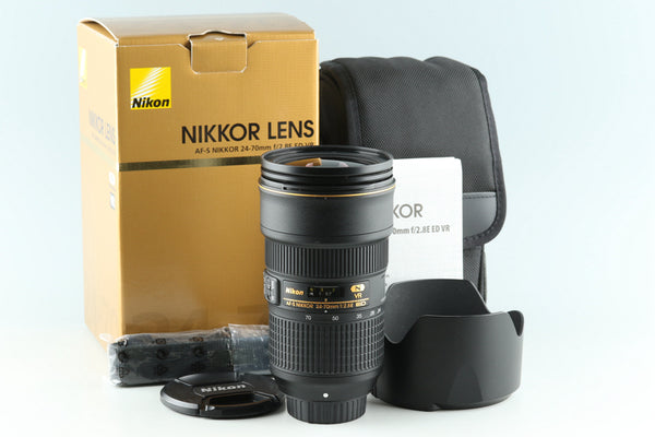 Nikon AF-S Nikkor 24-70mm F/2.8 E ED VR N Lens With Box #32328L4