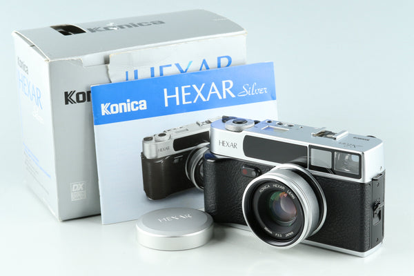 Konica Hexar 35mm Rangefinder Film Camera In Silver With Box #32819L7