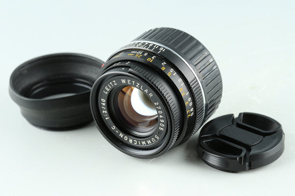 Leica Leitz Summicron-C 40mm F/2 Lens for Leica M #32883C2