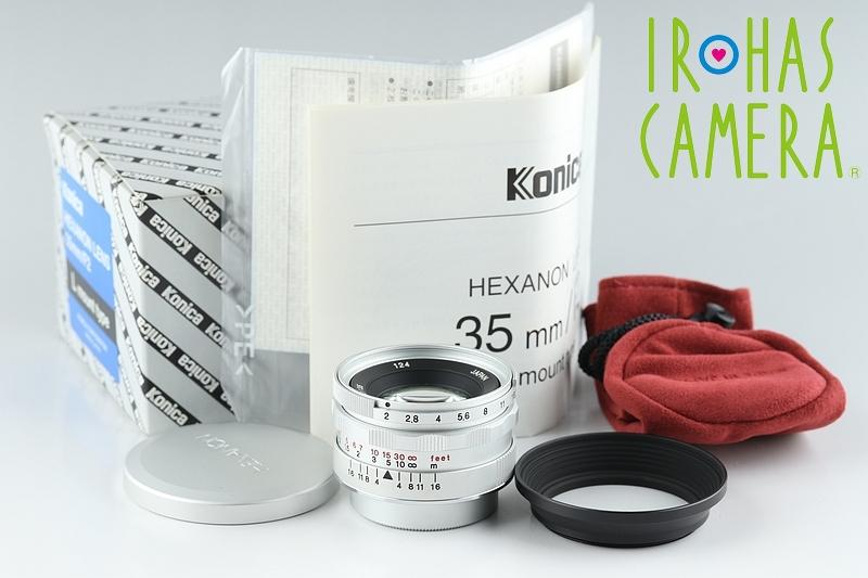 Konica Hexanon 35mm F/2 Lens for Leica L39 LTM Mount With Box #16158F1