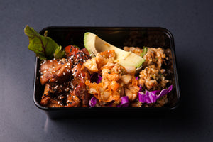 Teriyaki Chicken Bowl 350g (GF) (DF) (P) - Nourish Meals by Wilde Kitchen