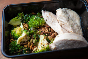 Poached Chicken & Greens 300g (GF) (DF) (P) - Nourish Meals by Wilde Kitchen