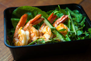 Prawn, Cucumber & Mint Salad w/ Spinach 300g (GF) (DF) (P)