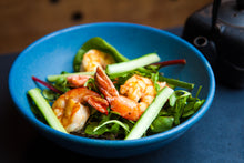 Load image into Gallery viewer, Prawn, Cucumber & Mint Salad w/ Spinach 300g (GF) (DF) (P)