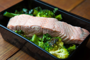 Poached Salmon & Greens 300g (GF) (DF) (P) - Nourish Meals by Wilde Kitchen