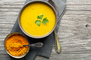 Cauliflower & Turmeric Soup (GF) (DF) (P) (Vegan)