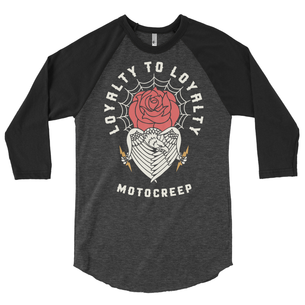 Loyalty to Loyalty Raglan Black/Heather
