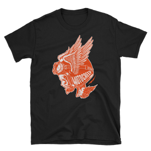 HD Orange Screaming Skull Tee