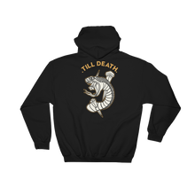 Load image into Gallery viewer, Till Death Black Hooded Sweatshirt