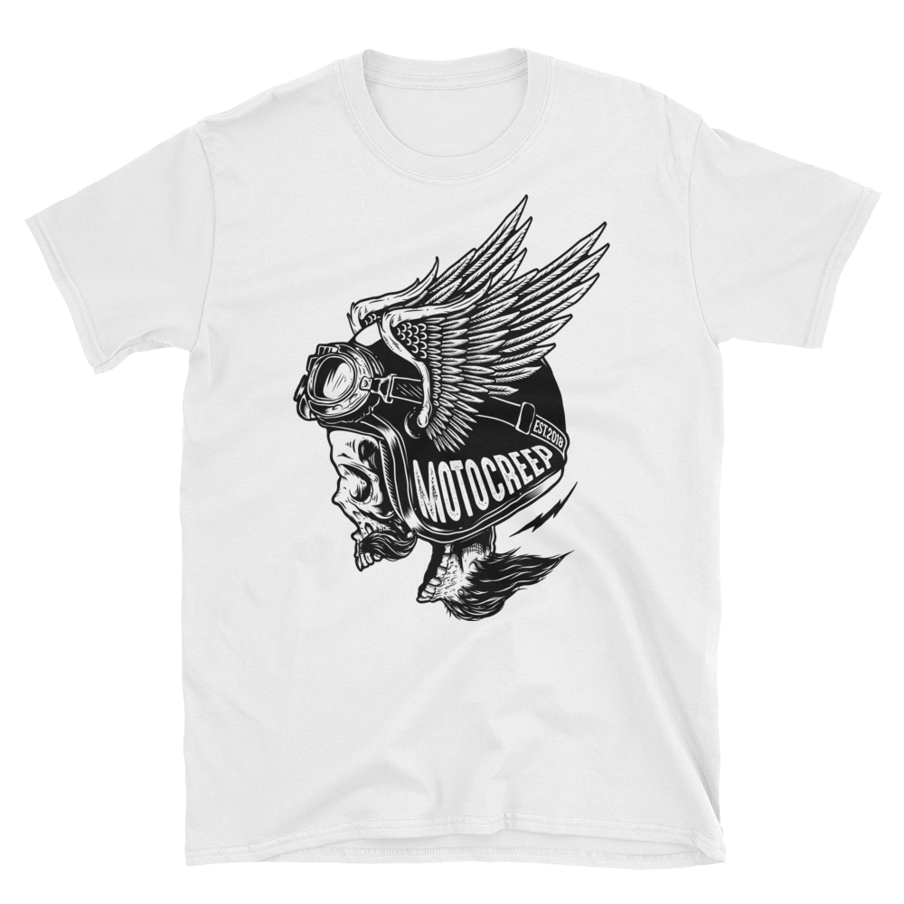Screaming Skull White Tee