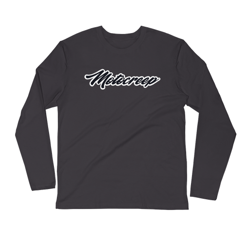 GARAGE LOGO Grey Long Sleeve Fitted Crew