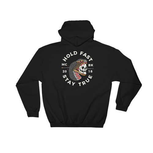 Hold Fast Black Hooded Sweatshirt