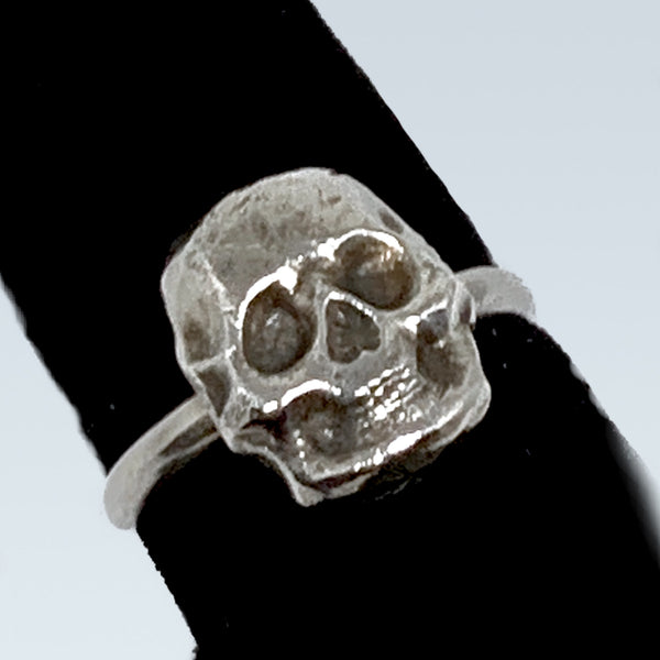 Skull Ring Cast In Sterling Silver