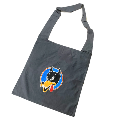Charcoal Batik Wolf Shopping Bag