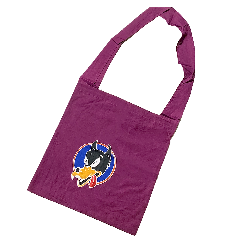 Purple Batik Wolf Shopping Bag