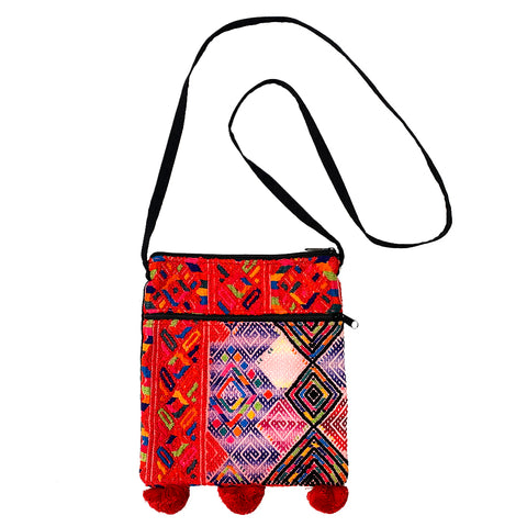Vintage Guatemalan Huipil Fabric Over the Shoulder Festival Bag