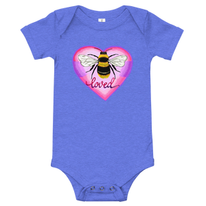 Bee Loved Baby Onesie -Blue