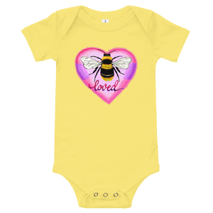 Bee Loved Baby Onesie - Yellow