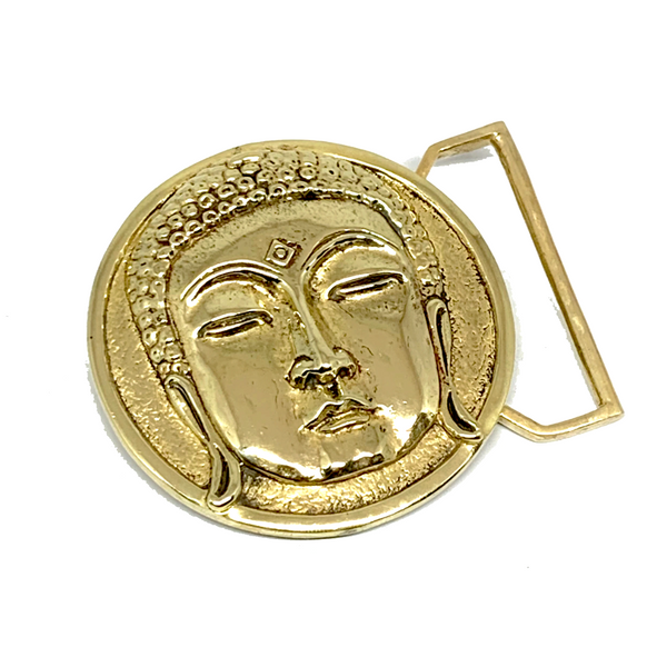 Buddha Belt Buckle Cast in Yellow Brass by 100mics