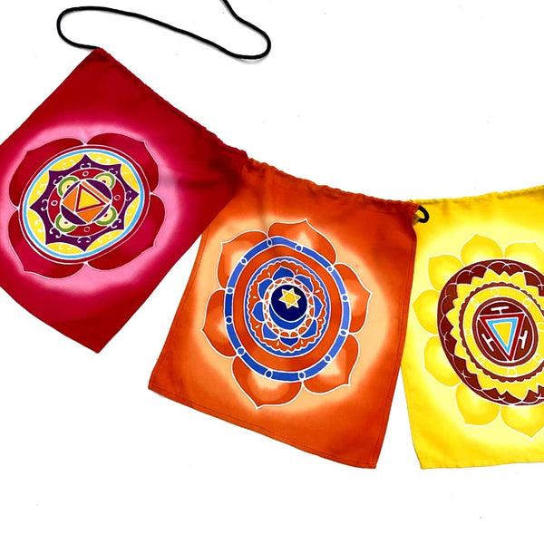 Chakra Prayer Flags - 8 Feet Long