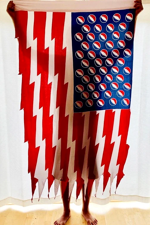 GD Inspired Batik Bolts American Flag - 3 x 5 1/2 Feet!
