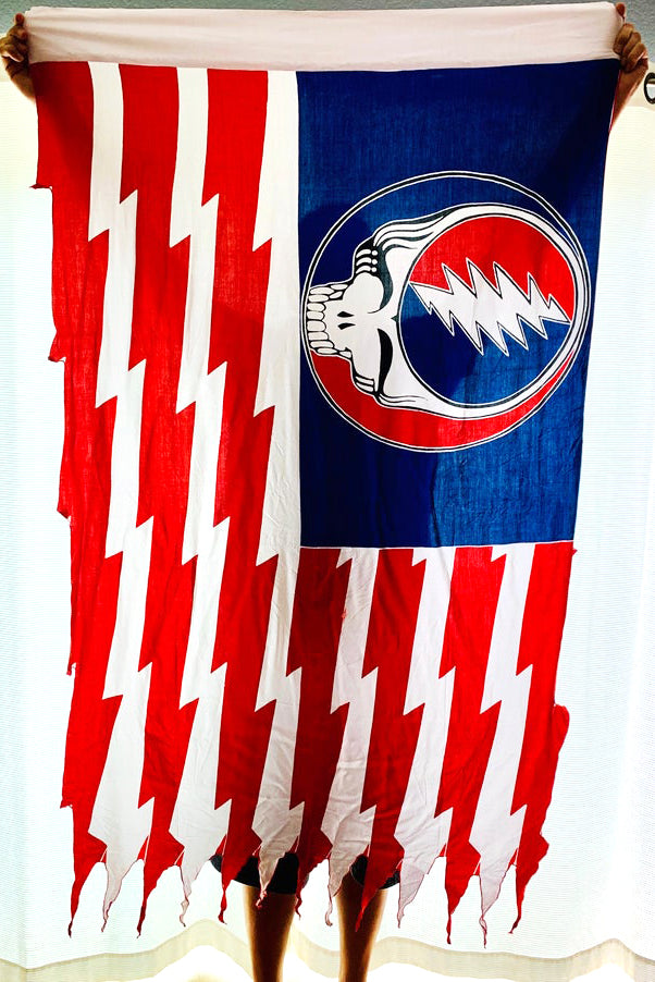 GD Inspired Batik Steal Your Face American Flag - 3 x 5 1/2 Feet!!