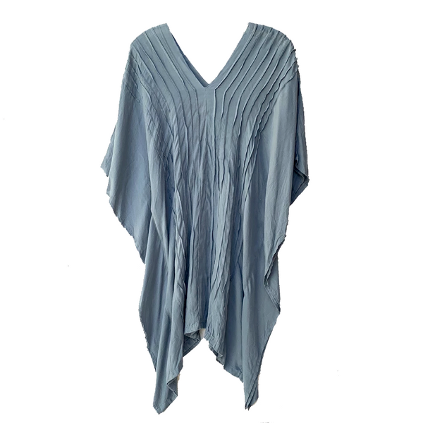 Steel Grey Ribbed Tunic / Bathing Suit Cover Up