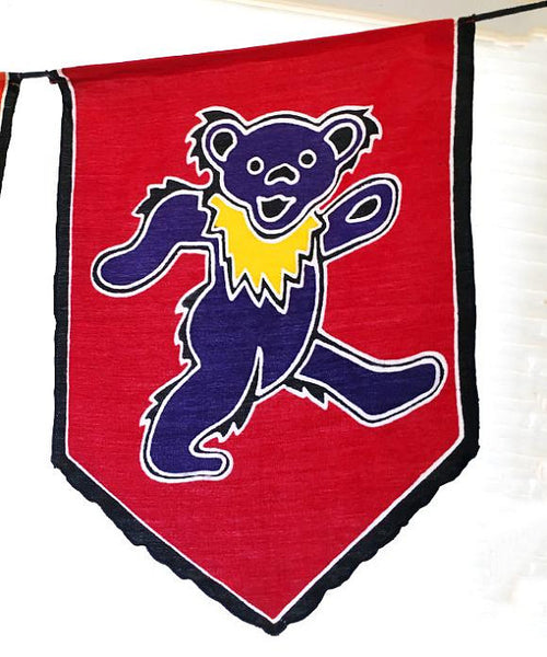 GD Inspired Batik Dancing Bear Prayer Flags!!