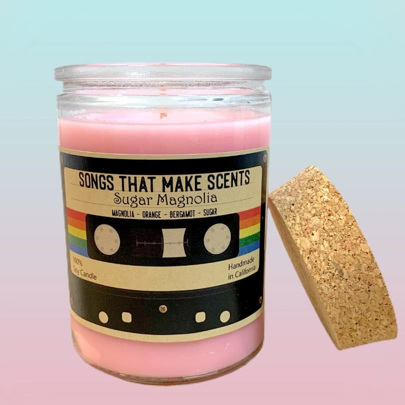 Sugar Magnolia Scented Soy 12 oz Candle by Songs That Make Scents