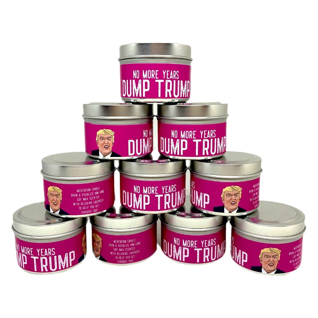 No More Years! Dump Trump 2 oz Lavender Scented Soy Candle by Songs That Make Scents