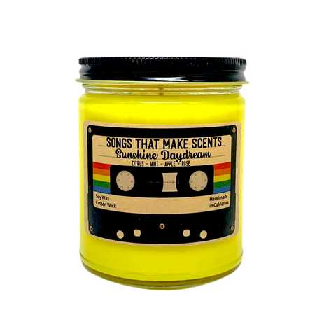 Sunshine Daydream Scented 8oz Soy Candle by Songs That Make Scents