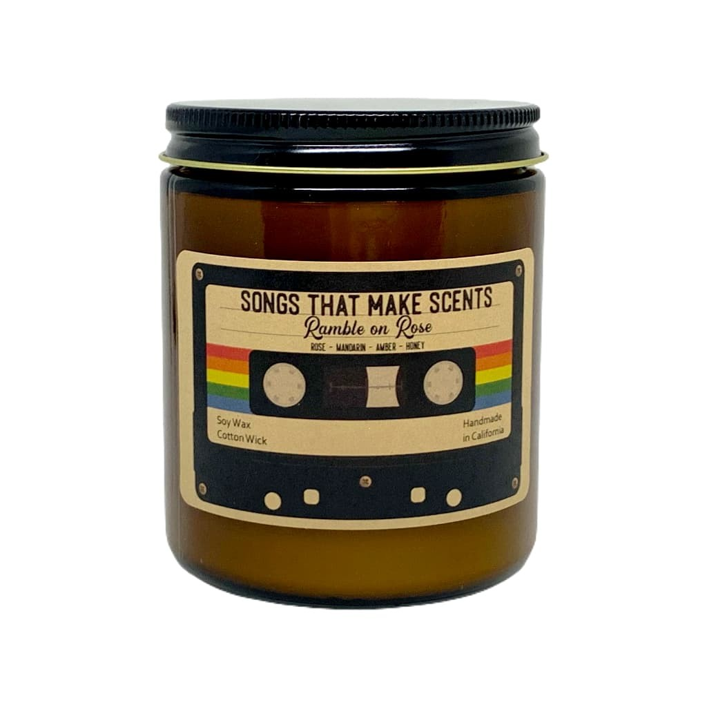 Ramble on Rose Scented Soy Candle by Songs That Make Scents - Various sizes