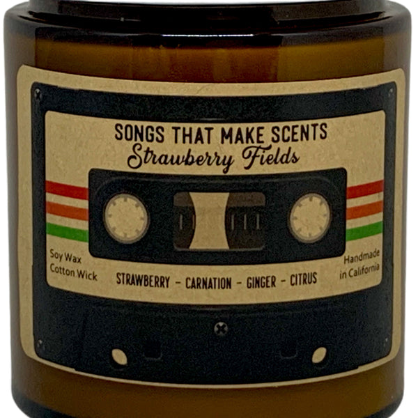 Strawberry Fields Scented Soy Candle by Songs That Make Scents - Various sizes