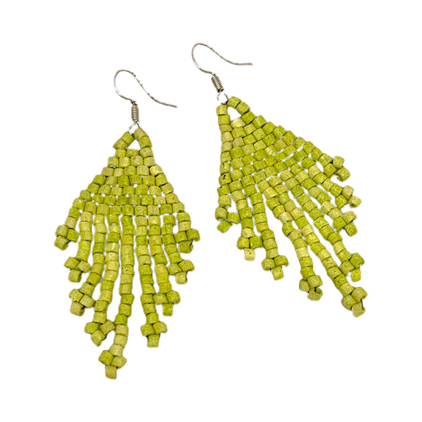 MIni Assorted Color Beaded 9 Fringe Earrings