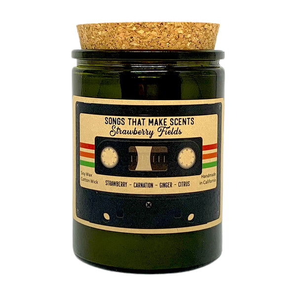Strawberry Fields 12oz Scented Soy Candle by Songs That Make Scents