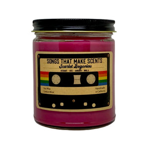 Scarlet Begonias Scented 8oz Soy Candle by Songs That Make Scents