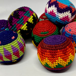 Handmade Colorful Crocheted Hacky Sacks!