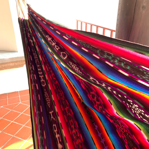 Colorful Hand Woven Guatemalan Fabric Hammocks