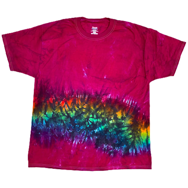 New Size XLARGE Collection Tie Dye - White Rainbow, Fuchsia, Black Rainbow, Purple & Burgundy