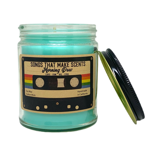 Morning Dew Scented 8oz Soy Candle by Songs That Make Scents