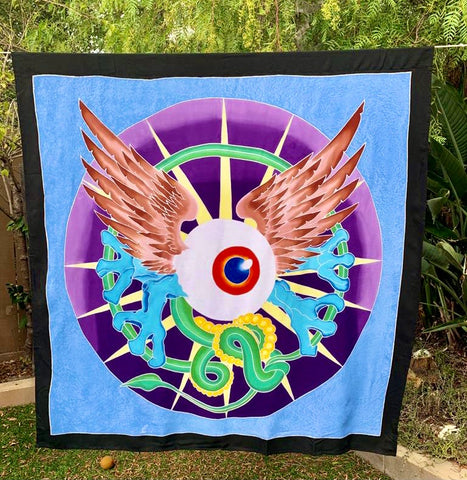 Flying Eye Batik Tapestry 4x4 Feet!