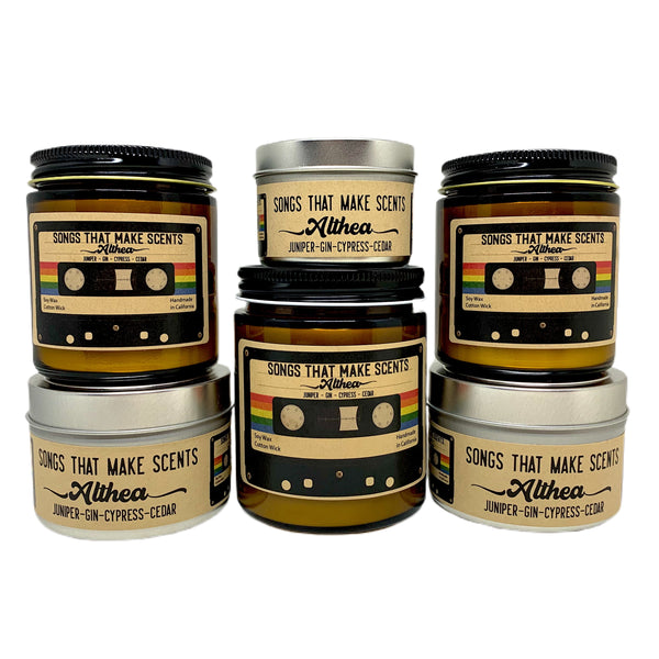 Althea Scented Soy Candle by Songs That Make Scents - Various sizes