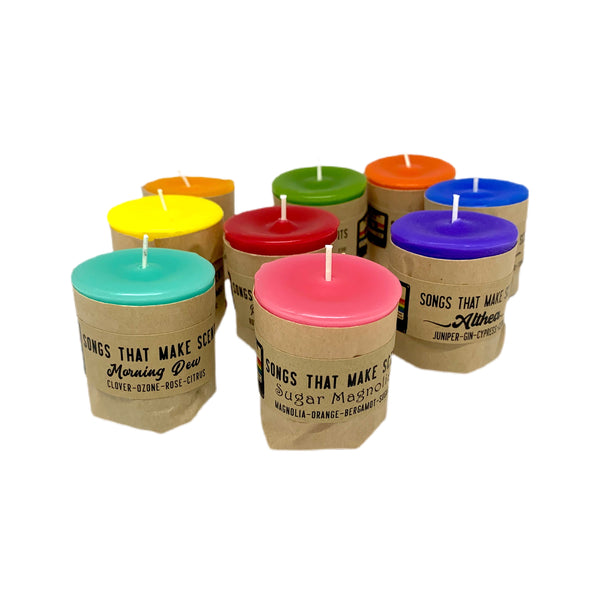 Epic Dead Show! Box Set of Votive Scented Candles by Songs That Make Scents