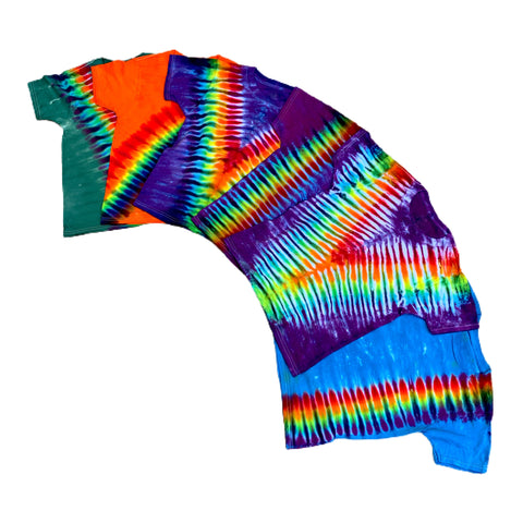 Kids Tie Dye T-shirts - Small 6-8