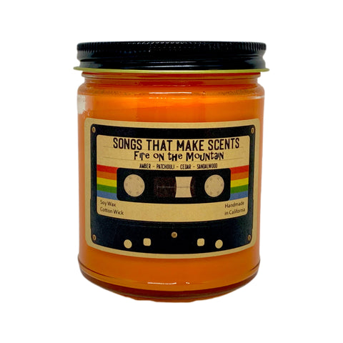 Fire on the Mountain Scented 8oz Soy Candle by Songs That Make Scents