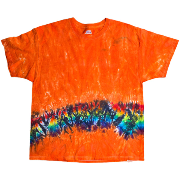 Orange Tie Dye Hanes Beefy Tee - XL